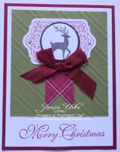 CARD #14: Merry Christmas Deer
