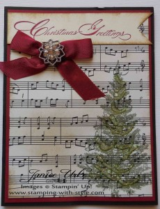 CARD #5: Musical Christmas Greetings