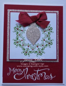 CARD #13: Christmas Wreath