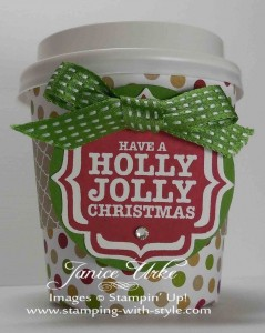 CARD #11 - Holly Jolly Coffee Cup