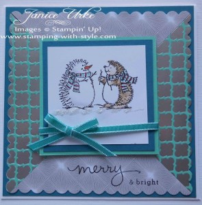 CARD #21: The Best of Snow -- Hedgehog Snowman<